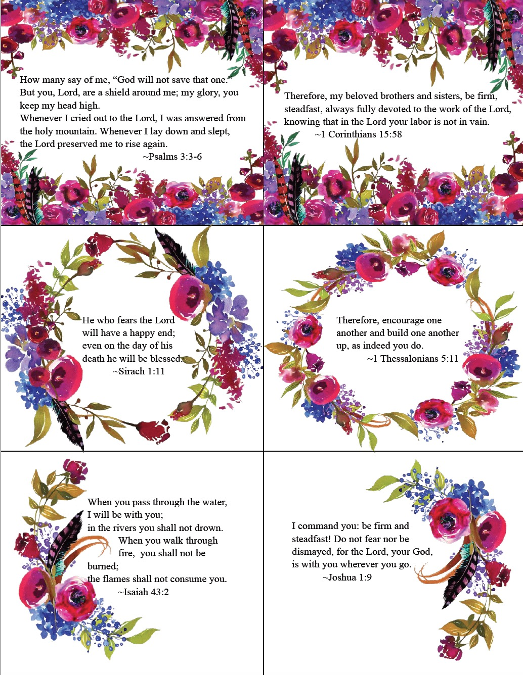 free printable bible verse cards for when you need encouragement 6 free printable scripture memory