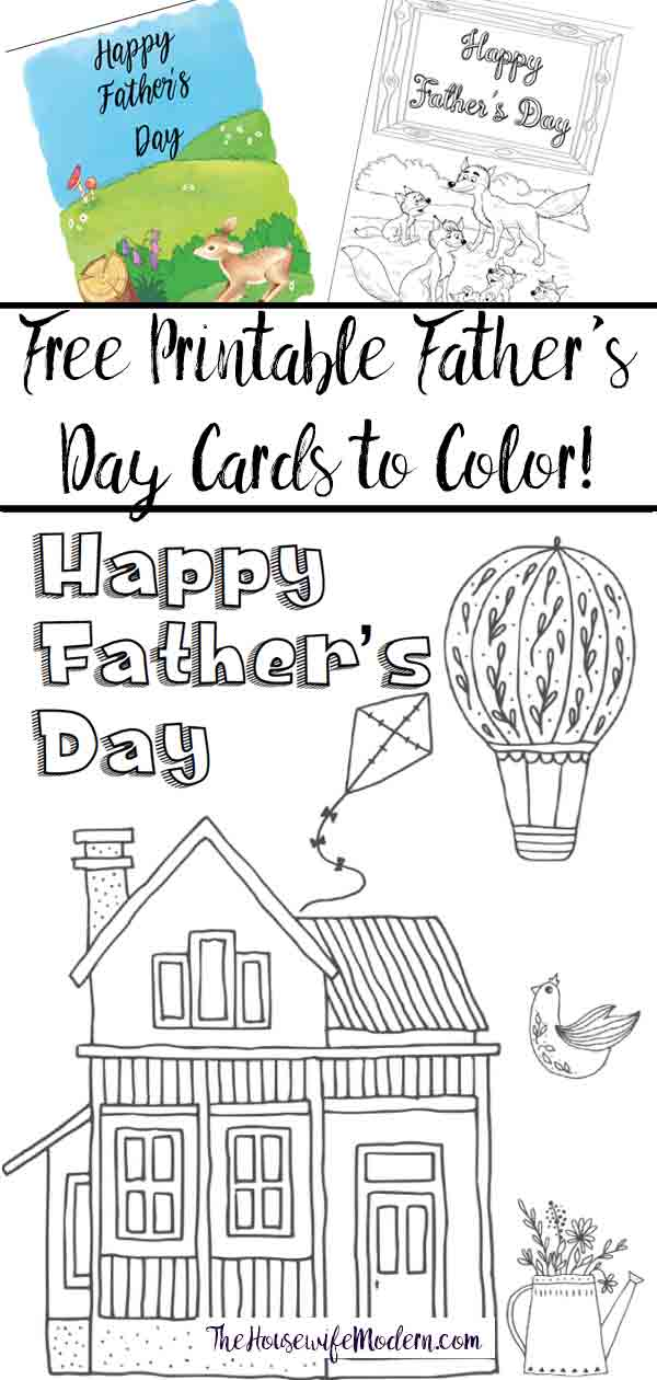 Free Printable Father\'s Day Cards (Some You Can Color!)
