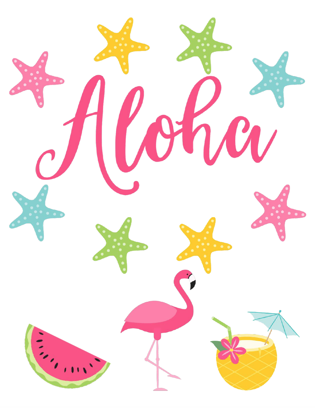 Aloha Free Summer Printable. Celebrate summer and brighten up your decor with 4 free summer printables.