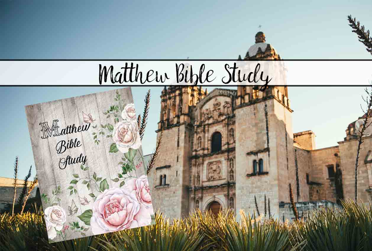 Book of Matthew Bible Study. Free! Choose between 8-day e-mail course or just download the entire thing!