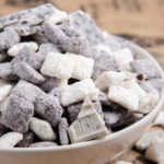 Cookies and Cream Muddy Buddies. White chocolate, semisweet chocolate, and Oreos combine to turn this classic treat into delicious cookies and cream puppy chow!