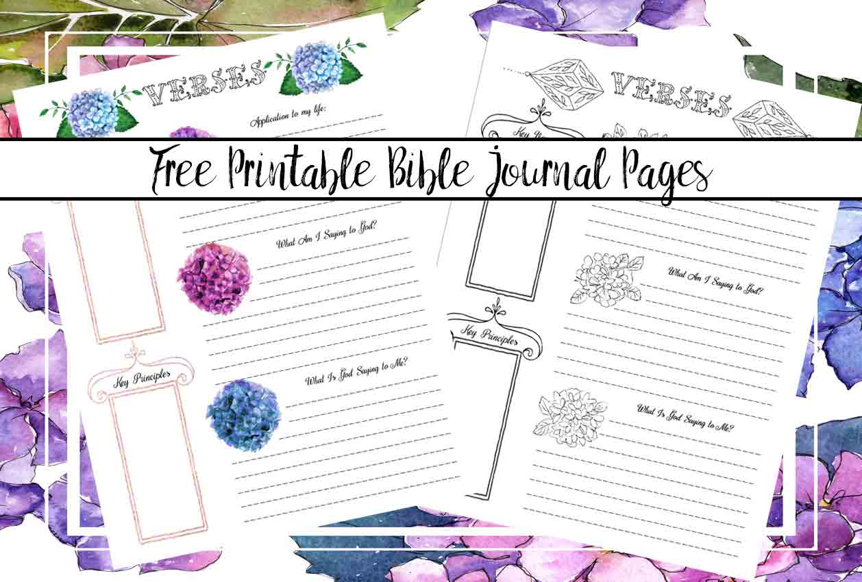 It's just a graphic of Breathtaking Free Printable Bible Journaling Pages