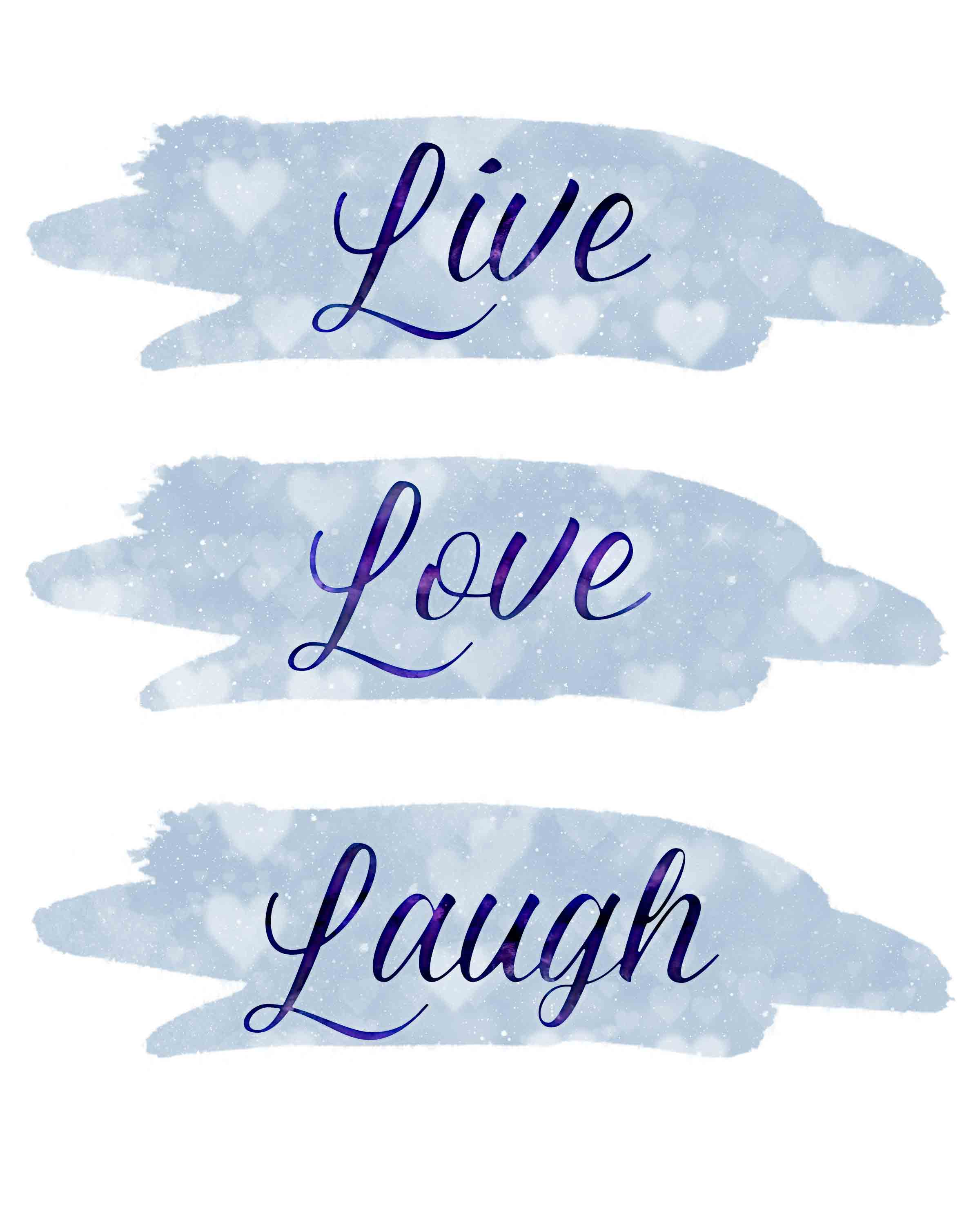 Live, Love, Laugh free inspirational printable. #free #freeprintable #inspiration