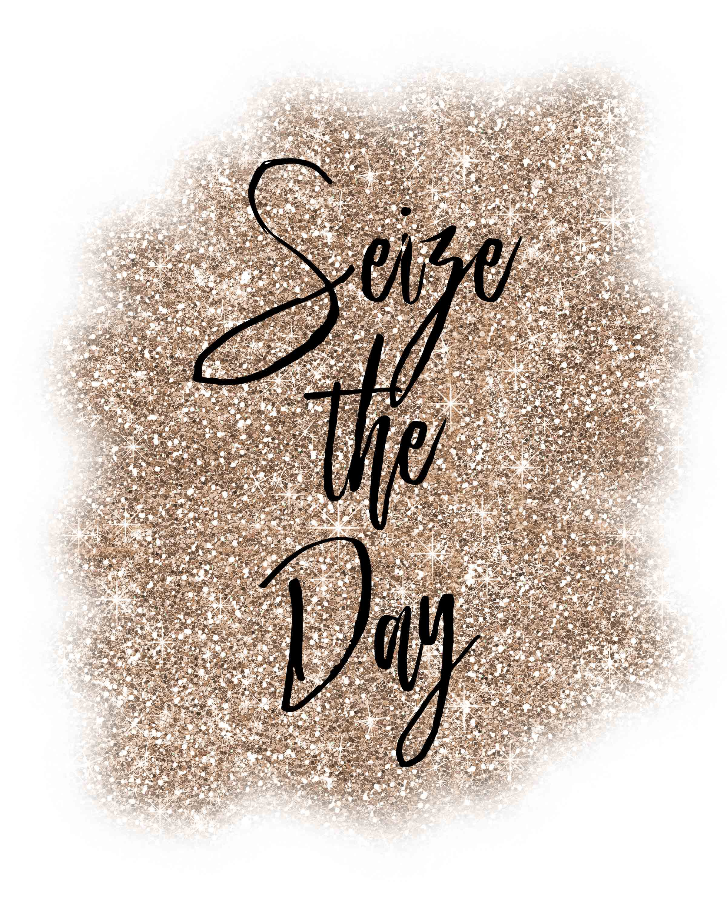 Seize the Day free printable. #free #freeprintable #inspiration
