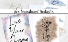 Free Inspirational Printables. 4 Designs. Live, Love, Laugh. Seize the Day. Live Your Dream. And Seize Every Moment. 4 free printables to provide inspiration.