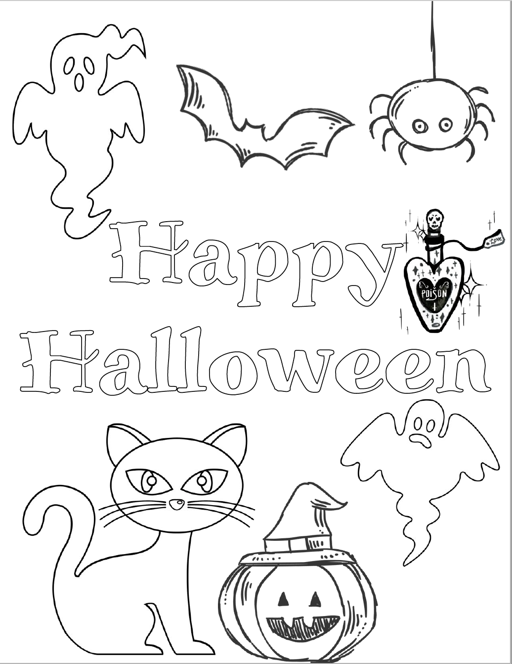 Halloween cat, pumpkin, ghosts, bat, and more. Free printable halloween coloring pages for kids. 5 designs to choose from! Spooky houses, ghosts, pumpkins, and fall-theme from easy to a little more difficult. #free #printable #freeprintable #halloween #coloring #halloweencoloring #freecoloring
