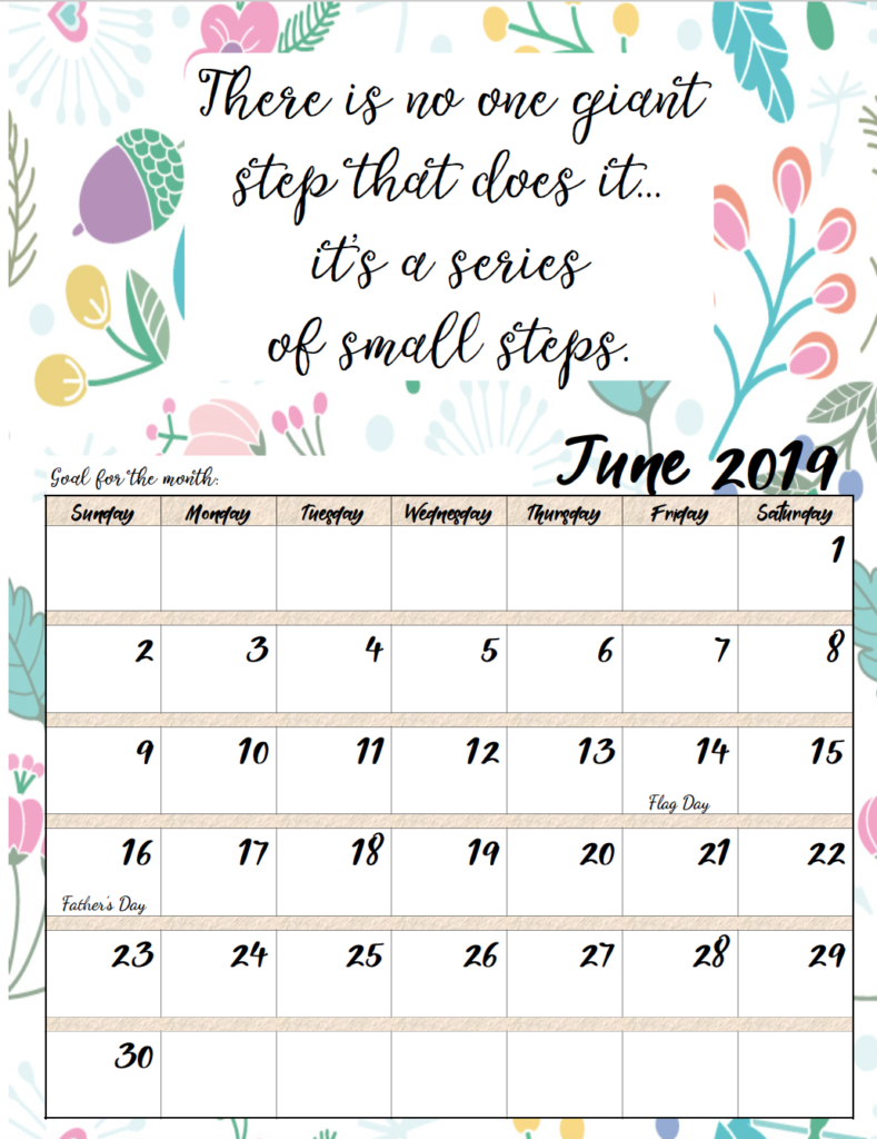 Monthly Calendar Quotations : Free printable monthly motivational calendars