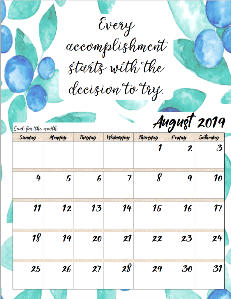 Short Monthly Calendar Quotes : Free printable monthly motivational calendars