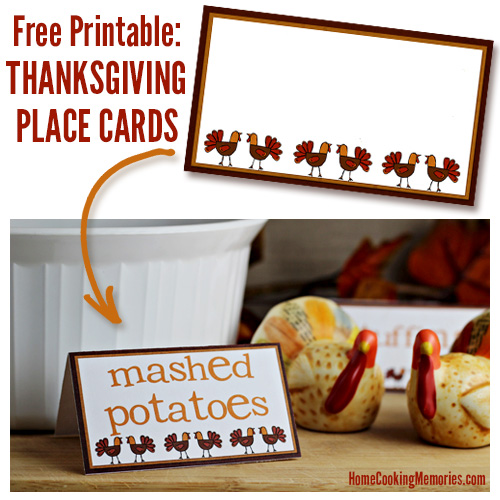 Free Thanksgiving Place Cards. Part of Free Thanksgiving Printables Round-Up. Over 50 free Thanksgiving printables including decor, planners, labels, food decoration, and more! #thanksgiving #free #printable #freeprintable #thanksgivingprintable