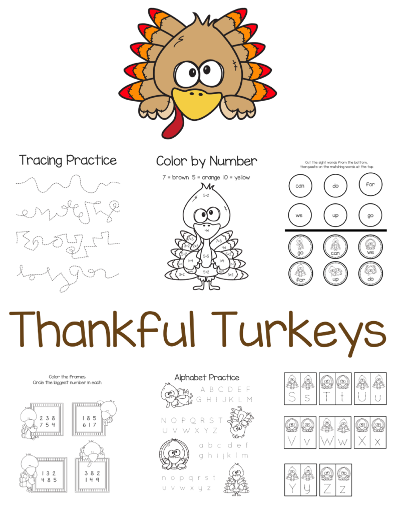 Thanksgiving Activity for Kids. Part of Free Thanksgiving Printables Round-Up. Over 50 free Thanksgiving printables including decor, planners, labels, food decoration, and more! #thanksgiving #free #printable #freeprintable #thanksgivingprintable