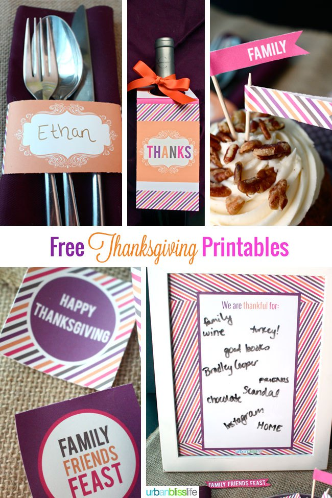 Thanksgiving Printables. Part of Free Thanksgiving Printables Round-Up. Over 50 free Thanksgiving printables including decor, planners, labels, food decoration, and more! #thanksgiving #free #printable #freeprintable #thanksgivingprintable