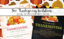 Free Printable Thanksgiving Invitations: 2 Beautiful Designs. Editable (in Photoshop) or print as is and write your personal details.