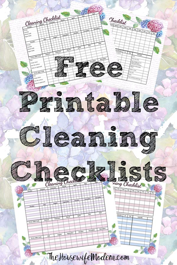 Free printable cleaning checklists. Pre-filled and blanks. Regular & deep-cleaning. Great for kids' chores! #free #printable #freeprintable #cleaning #cleaningchecklist #deepclean