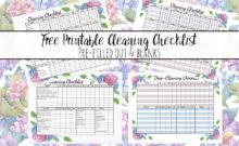 Free printable cleaning checklists. Pre-filled and blanks. Regular & deep-cleaning. Great for kids' chores!