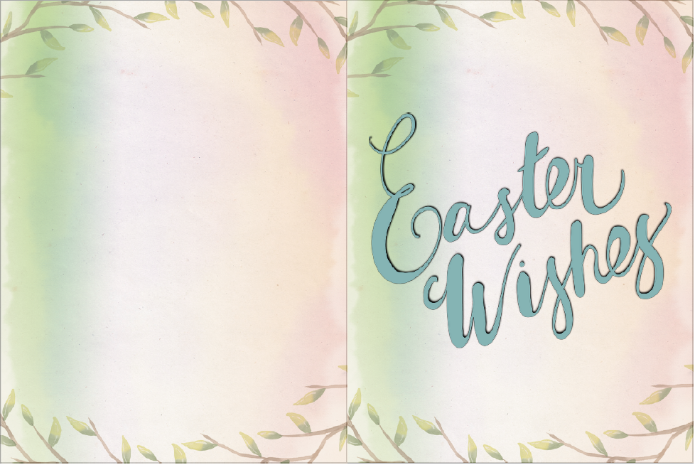 Bunny with eggs easter card. Free Printable Easter Cards. 4 different, adorable designs for everyone you know- children, friends, and family. #easter #card #eastercards