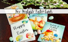 Free Printable Easter Cards. 4 different, adorable designs for everyone you know- children, friends, and family.