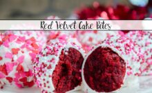 Red Velvet Cake Bites. Moist red velvet mixed with luscious white chocolate cream cheese frosting. A classy, beautiful dessert for all occasions.