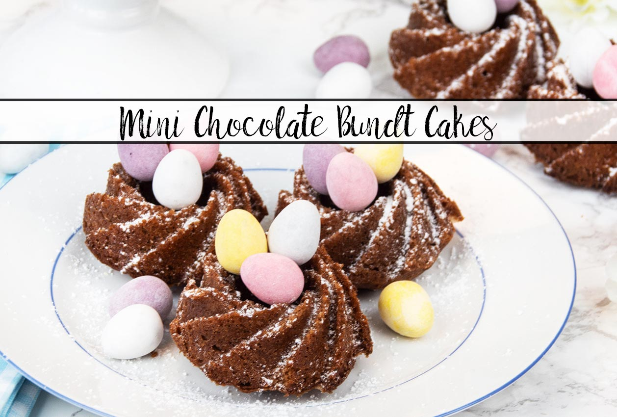 Mini Chocolate Bundt Cakes Perfect For Easter