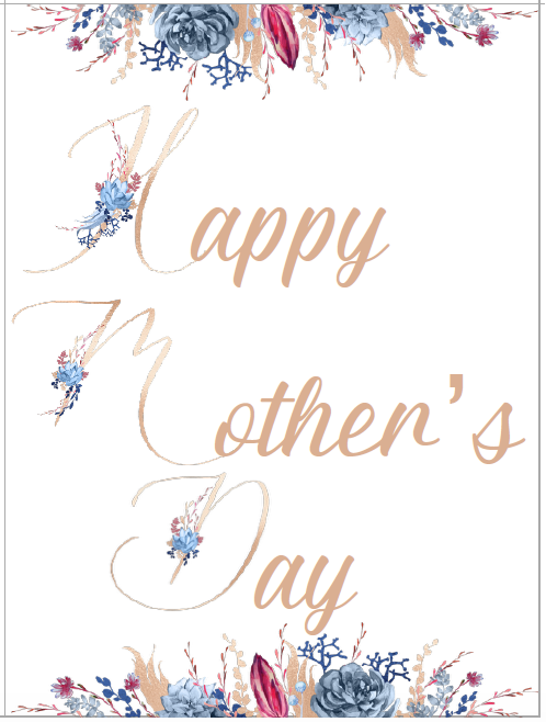 Card #1. Free Printable Mother's Day Cards and Gift Tags. 4 different designs. Give a beautiful card to mom. Comes with matching gift tag.
