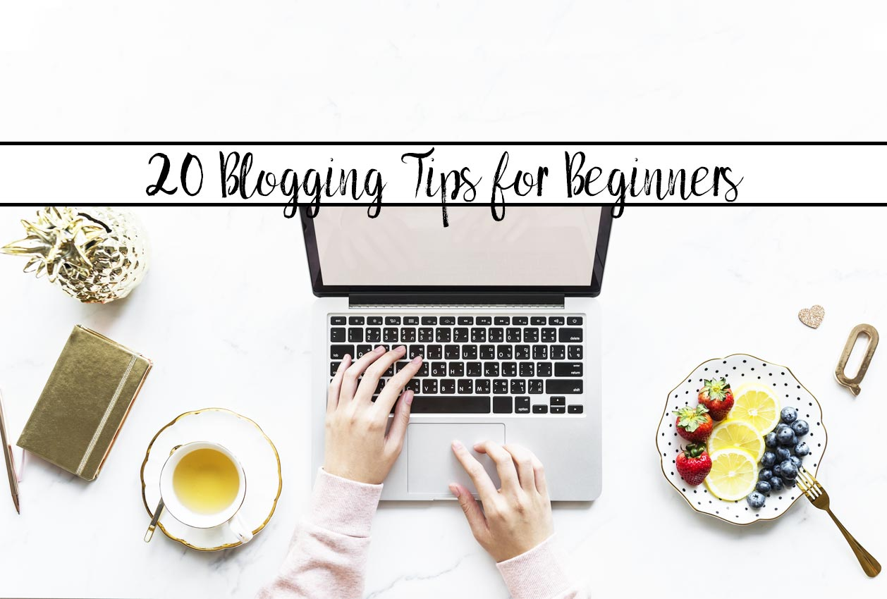 Featured image for post of blogging tips for beginners.
